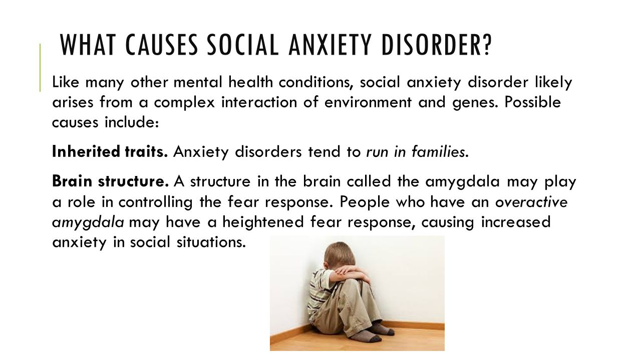 what are the causes for different types of anxiety disorders?